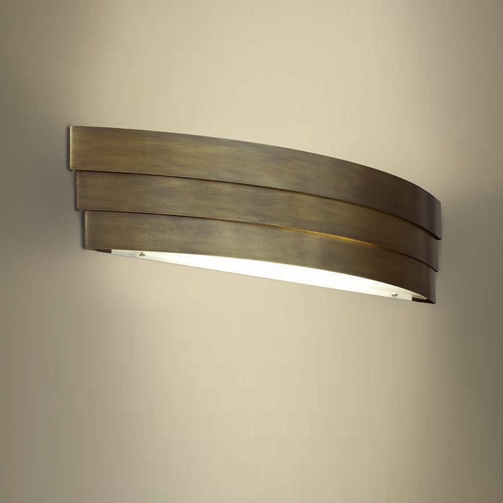 LAM Attraktive LED-Wandleuchte - Brüniert messi...