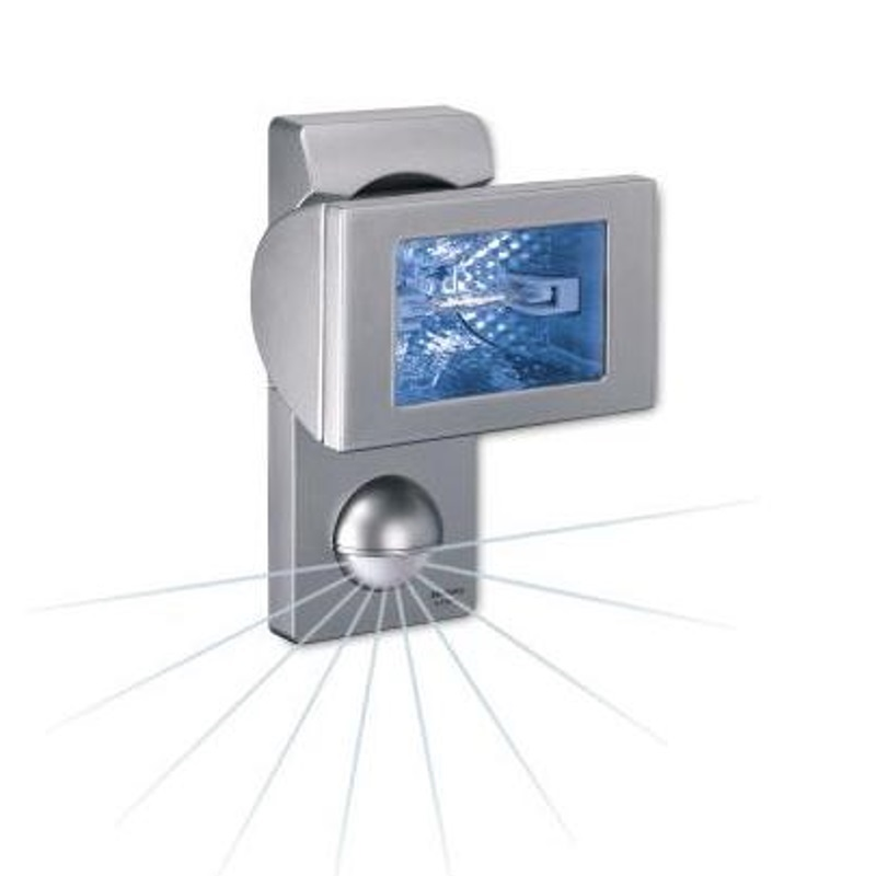 Steinel Außen-Halogenstrahler mit Sensor inklusive Leuchtmittel - silber silber 648411 | Lampen > Leuchtmittel > Halogenstrahler | Hell - Blau | Steinel