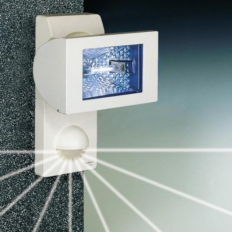 Steinel Außen-Halogenstrahler mit Sensor inklusive Leuchtmittel - weiß weiß 632113 | Lampen > Leuchtmittel > Halogenstrahler | Hell - Blau | Steinel