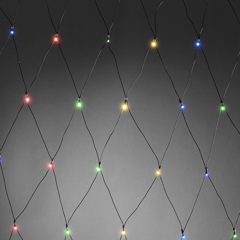 Außen-LED-Lichternetz, 240 Dioden bunt