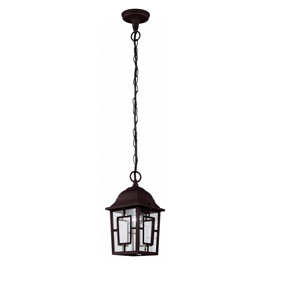 Außen-Pendelleuchte, Laterne, antik-braun, LED geeignet