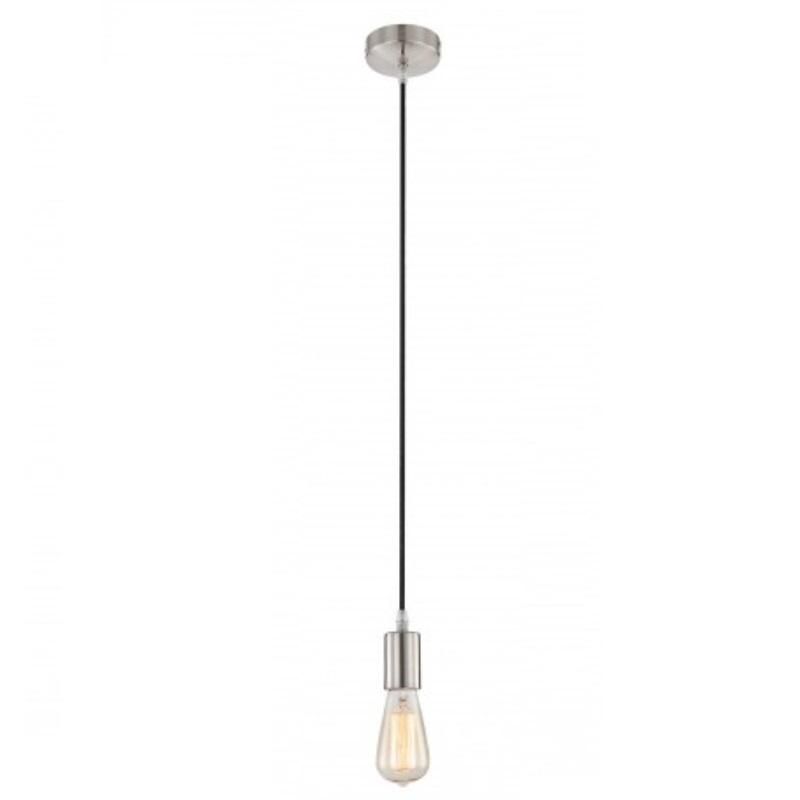 LHG Aufhängung - Leuchtenpendel in Nickel matt, Kabel in schwarz