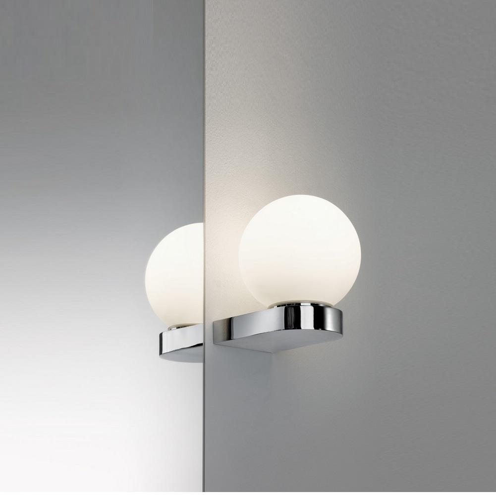 Badezimmer Wandleuchte Spiegelleuchte 230 V, Chrom, Opal, Metall, Glas, inklusive Leuchtmittel 1x G9,33W