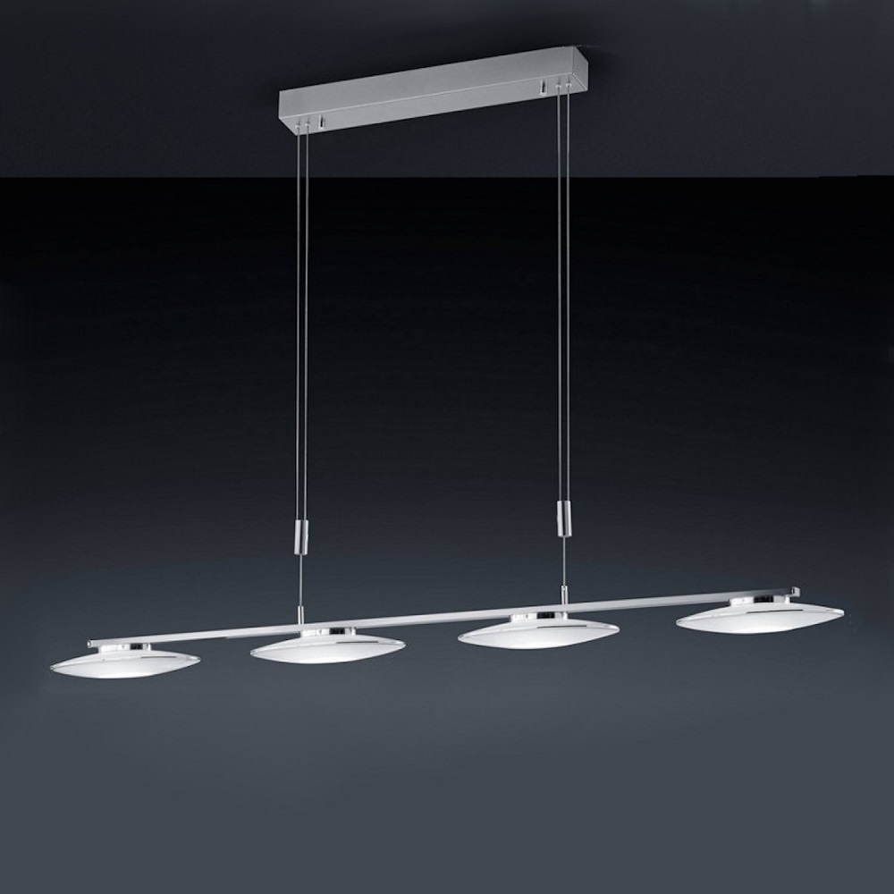 Bankamp  4 flg LED-Pendelleuchte Nickel-matt Chrom