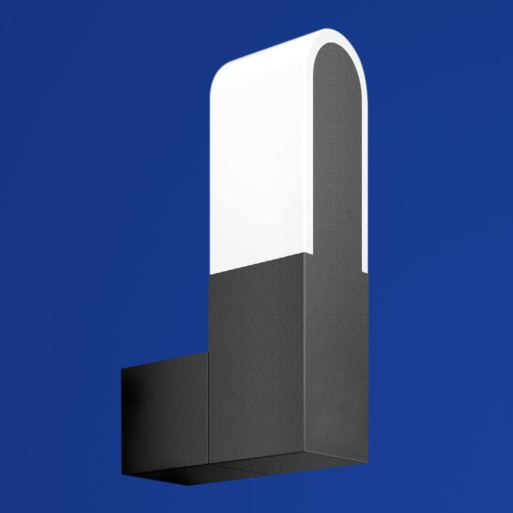 B-Leuchten LED-Außenwandleuchte dunkelgrau, LED 9Watt