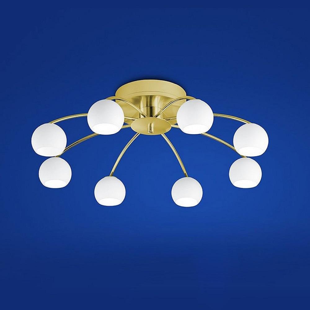 B-Leuchten LED-Deckenleuchte Verona Messing matt / blank