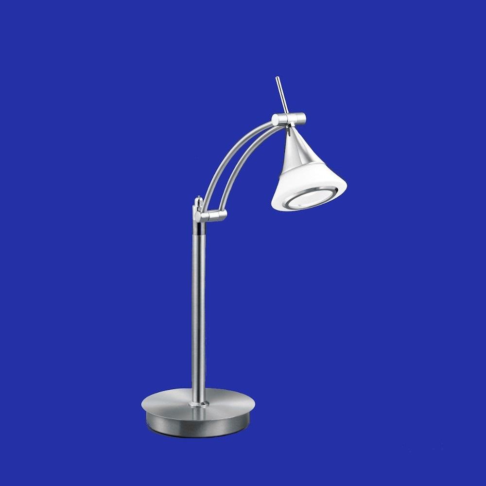 B-Leuchten LED-Tischleuchte Louis, Nickel-matt / Chrom