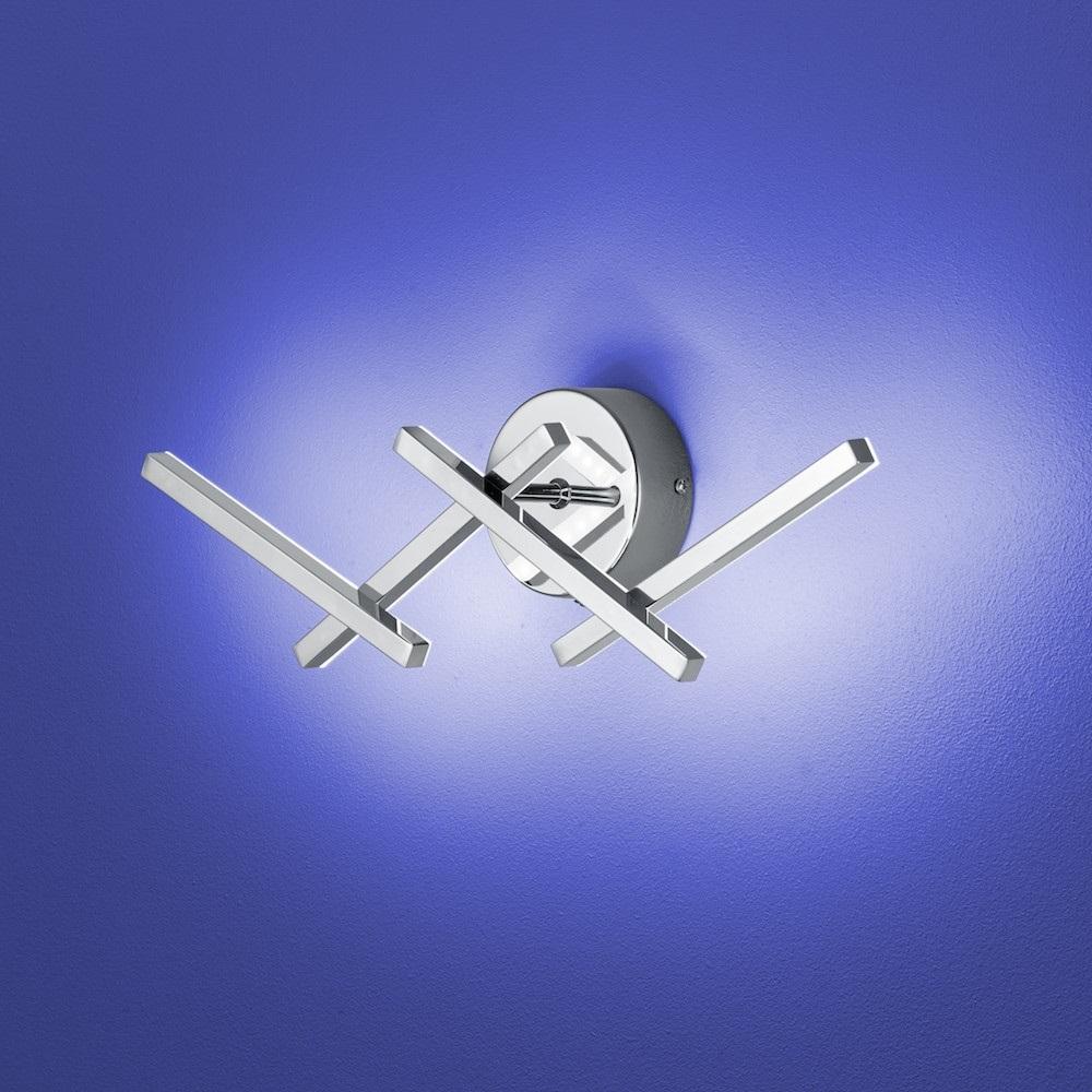 B-Leuchten LED-Wandleuchte Cross mit Ein/Aus-Schalter