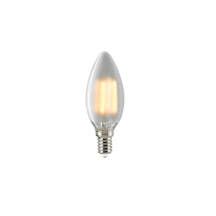 C35 LED Kerze Filamentlampe E14 matt 2700K dimmbar - 4,5 Watt