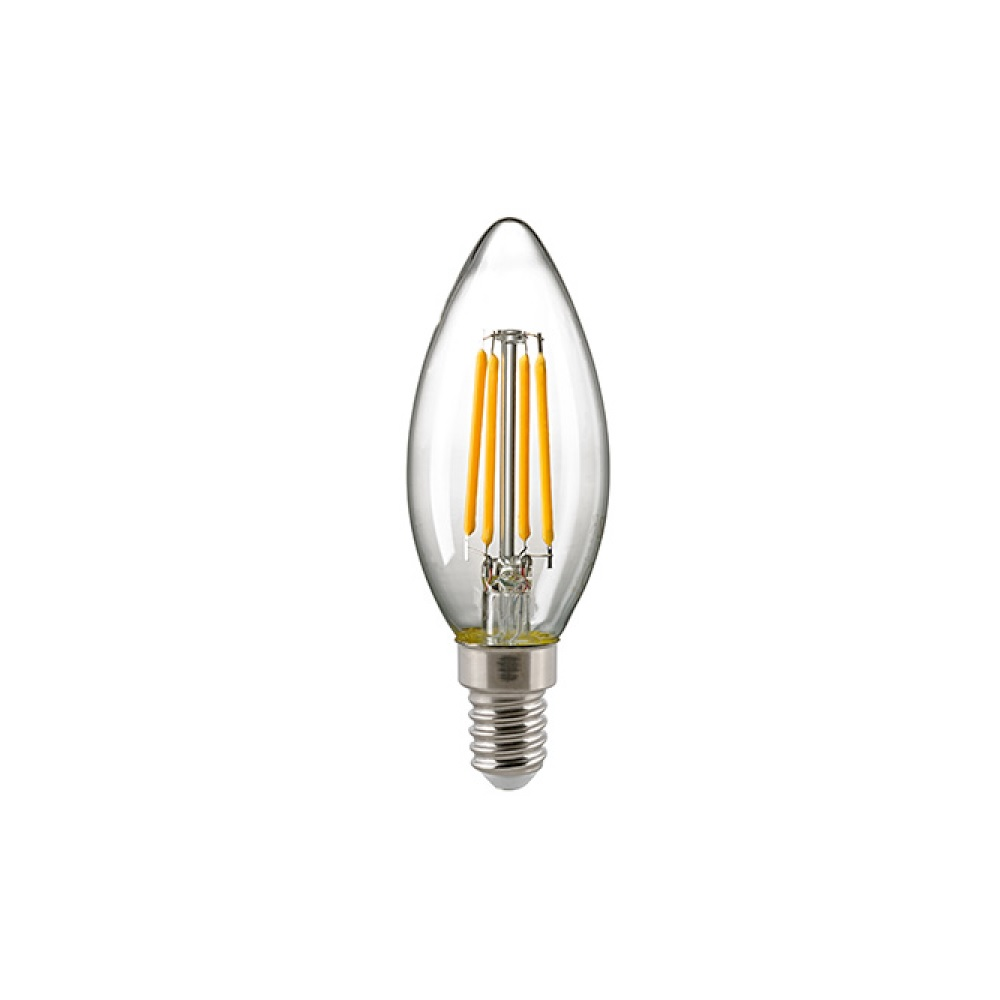 C35 LED Kerze Filamentlampe E14 klar 2700 K 2,5 W