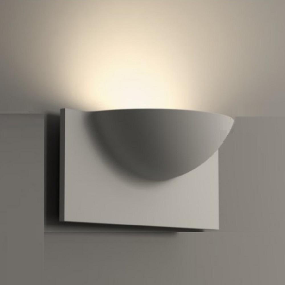 Clarc BPE Gipswandleuchte, indirektes Licht