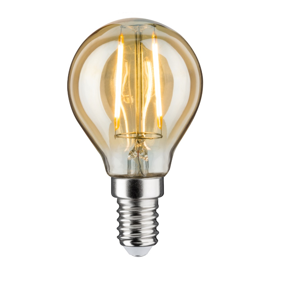 D45 LED Tropfen 2,5 Watt E14 Gold 230 V Warmweiß