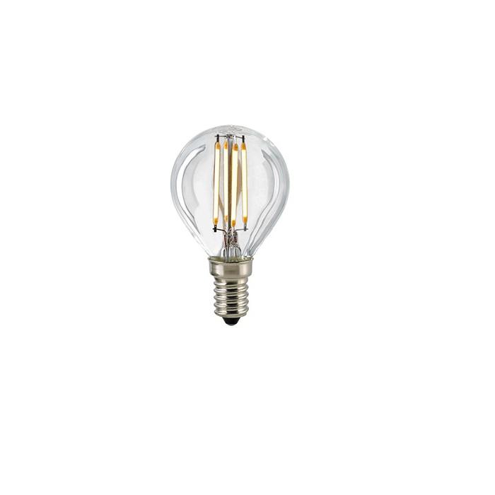 D45 LED Tropfen Filamentlampe E14 klar 2700K dimmbar - 2,5W