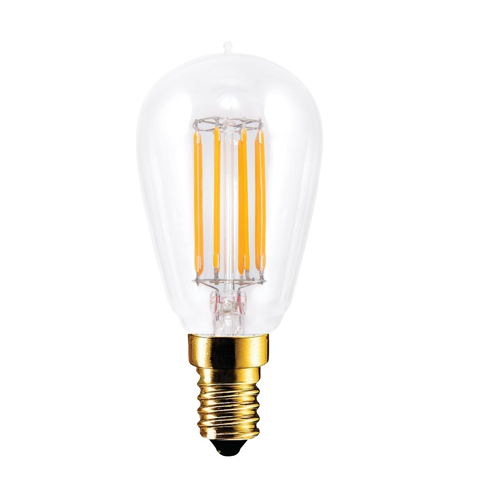 D45 Rustika LED 4,7 Watt, Tropfen, E14, Fadenleuchtmittel, 2200K, klar, dimmbar