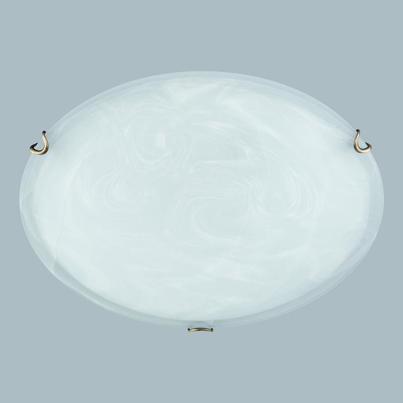 Hufnagel Deckenleuchte Alabasterglas, Klammern Altmessing, 30 cm 1x 46 Watt, 30,00 cm 592111 | Lampen | Glas | Hufnagel