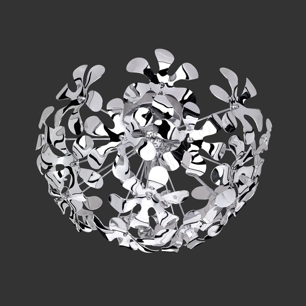 Deckenleuchte Splash in Chrom - Acrylblütentt