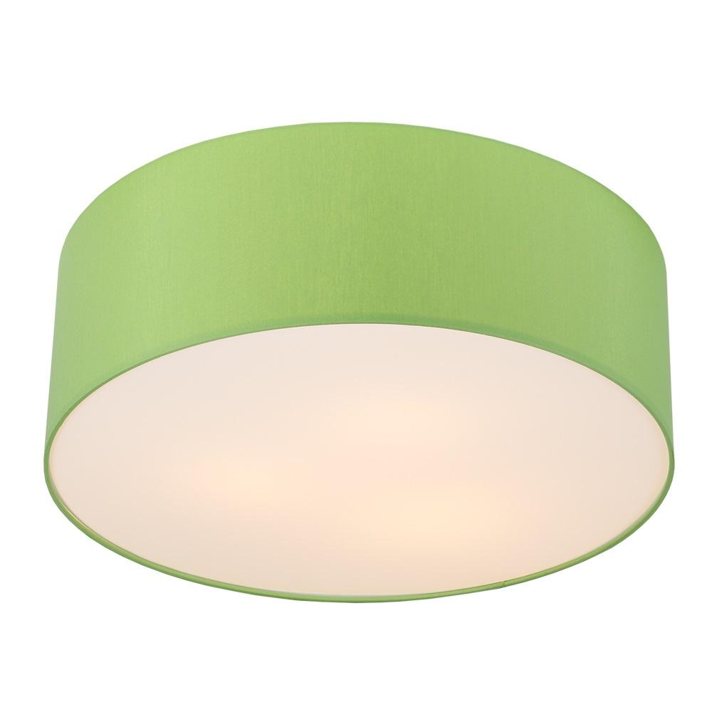 LHG Deckenleuchte, Lampenschirm, Chintz-Stoff, D=62cm, Apfelgrün