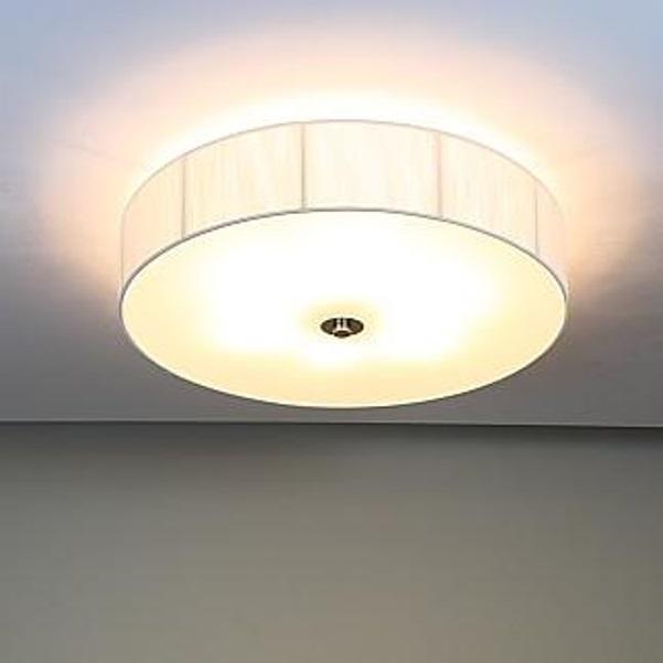 Deckenleuchte, Organzastoff, weiß, rund, D=60,5cm