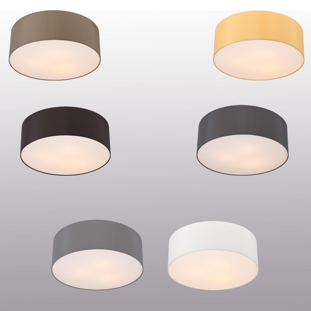 LHG Deckenleuchte, rund, Lampenschirm, Chintz-Stoff, Farbe wählbar, D=42cm