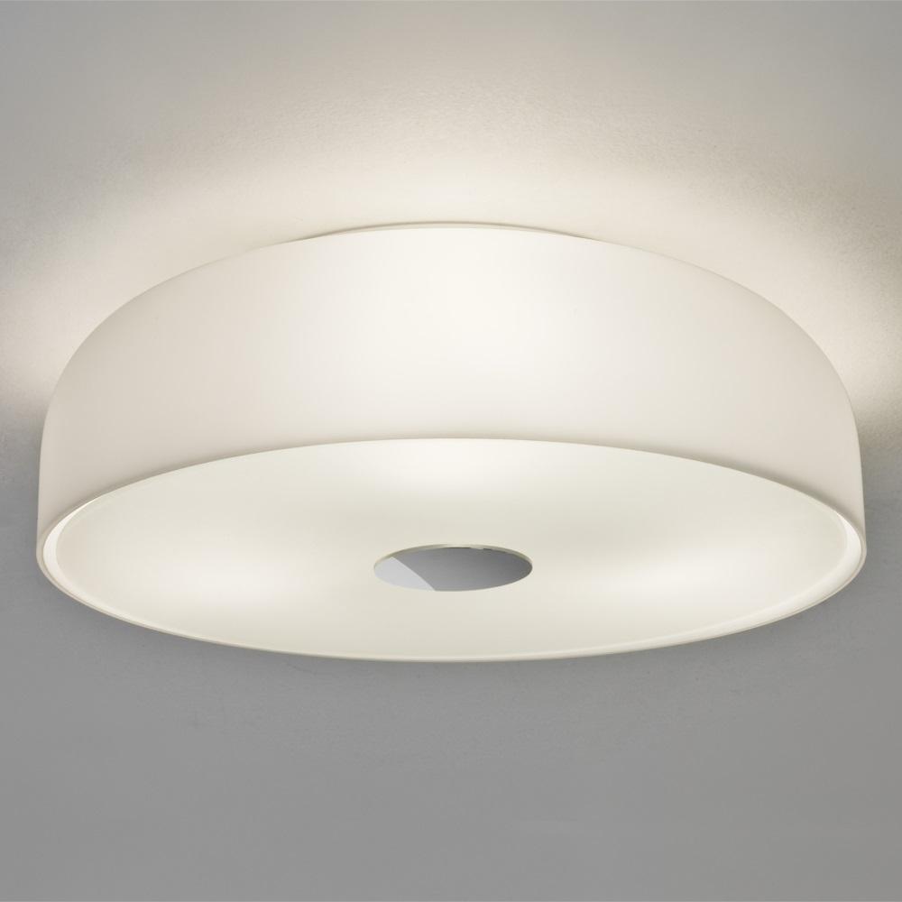Deckenleuchte, rund, Opalglas D=35cm, 3x E27 Fassungen LED geeignet