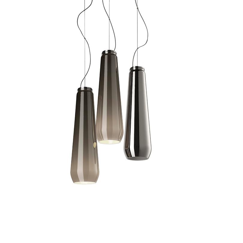 Diesel Living with Foscarini - Pendelleuchte Glas Drop - Mundgeblasenes metalisiertes Glas - 2 Farben