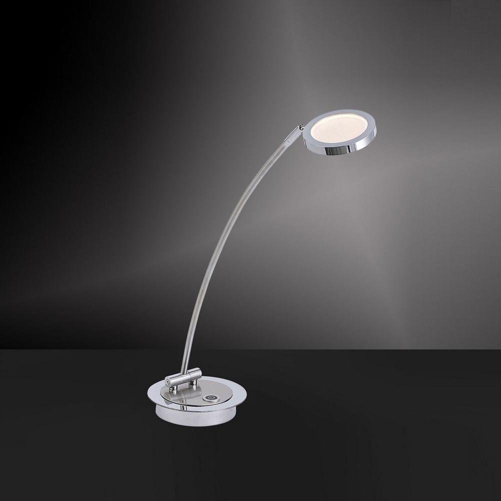 Dimmbare LED-Tischleuchte Stahl / Chrom