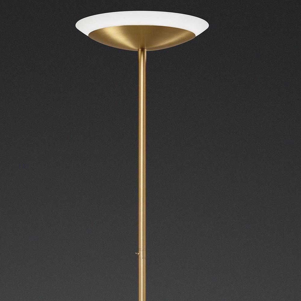 Dimmbarer LED-Fluter Tris Messing-matt, 2 Lichtfarben