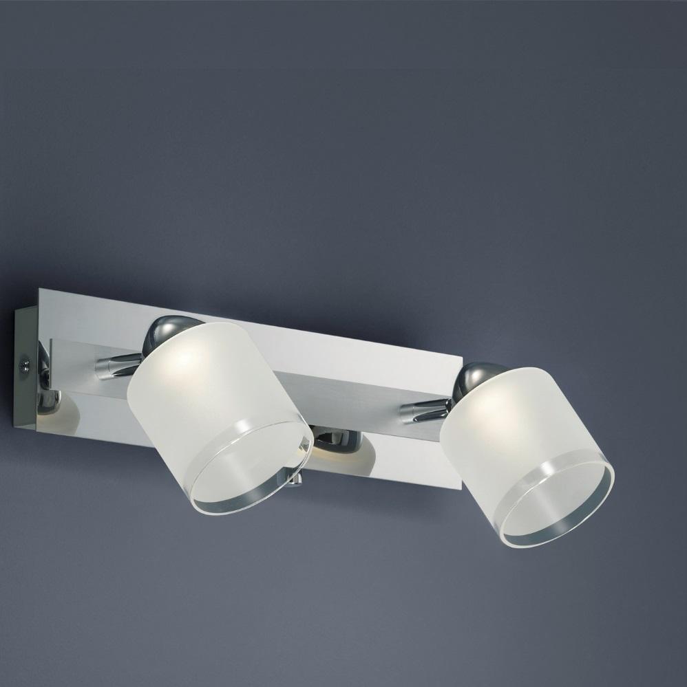 Dimmbarer LED-Wandstrahler in Chrom, inklusive 2 x 4,5W