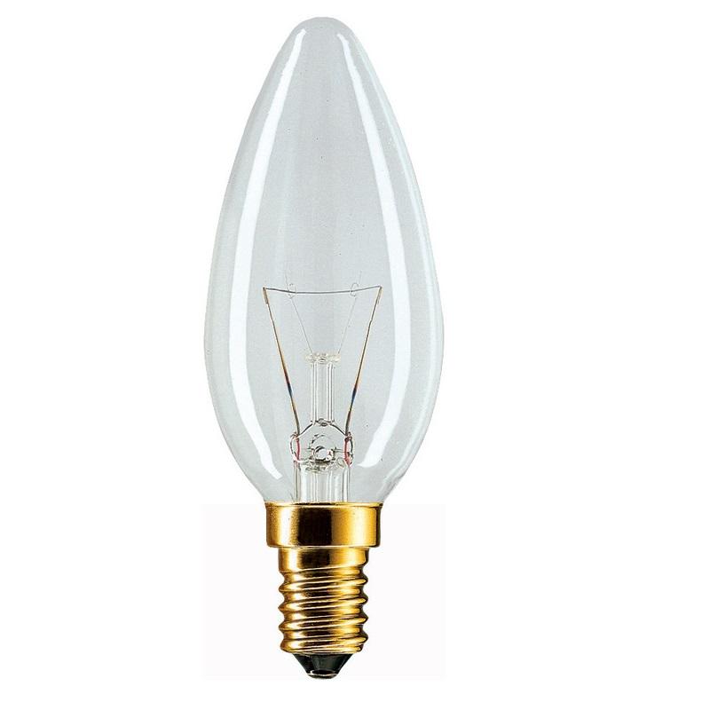 E14 Leuchtmittel Kerze klar 60W