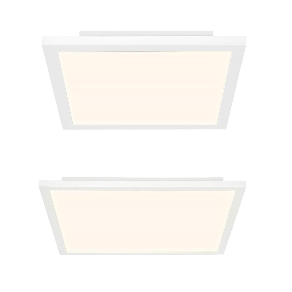 Eckiges LED-Panel Smooth in weiß, zwei Größen