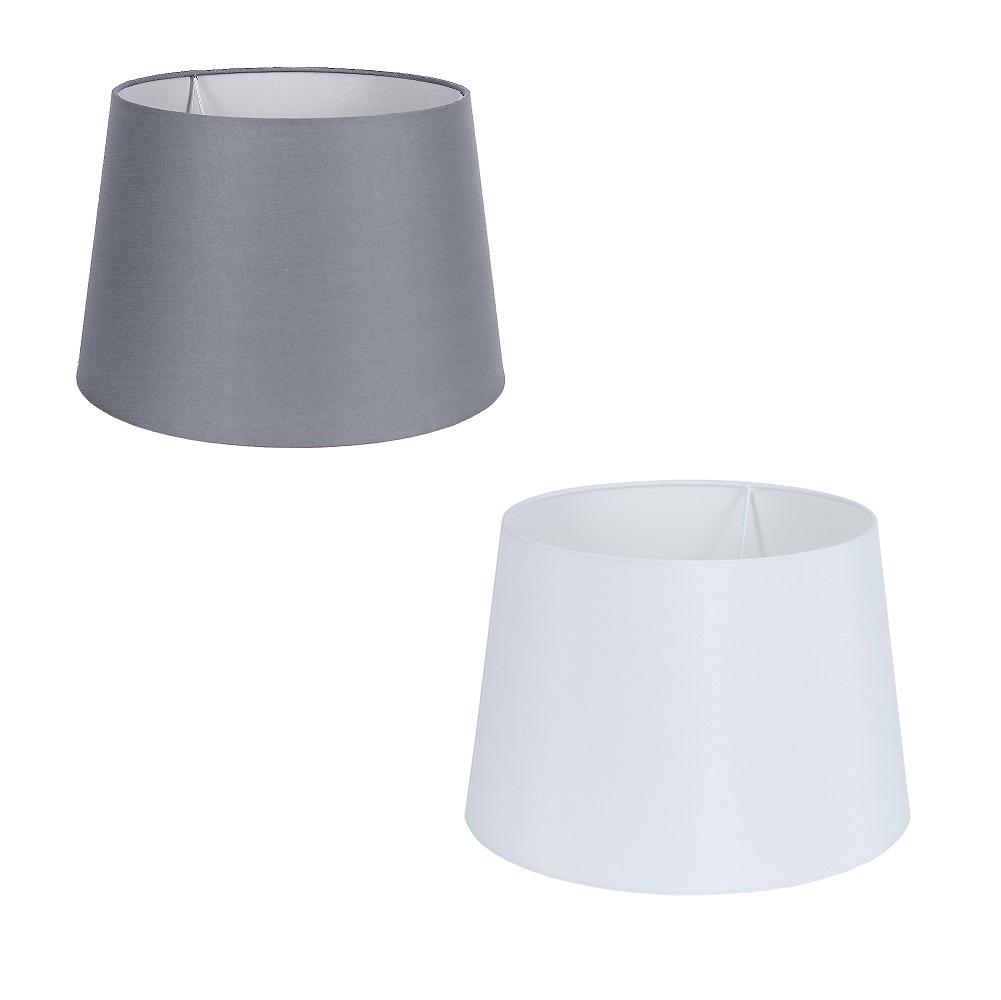 Edler Lampenschirm  Stoff grau oder weiß