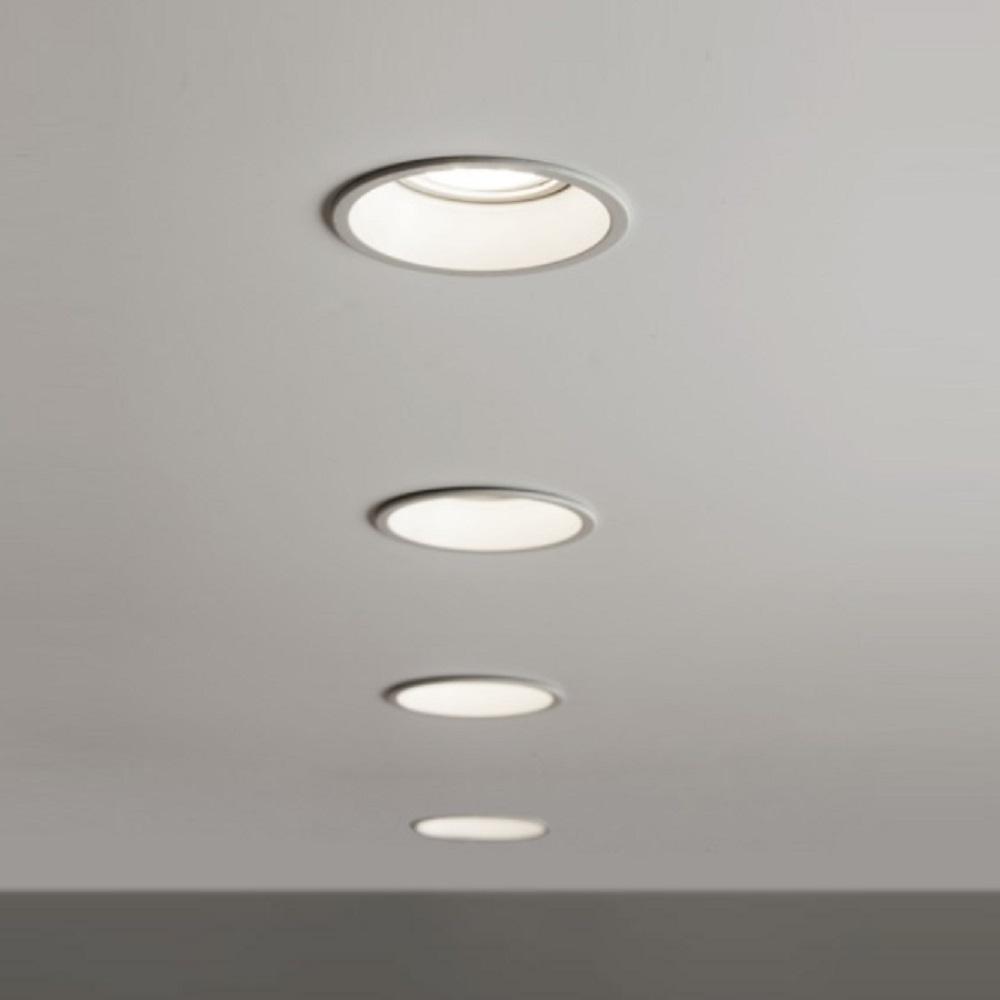 Einbaustrahler, Weiß, rund,  GU10, LED geeignet, D=8,2 cm, modern