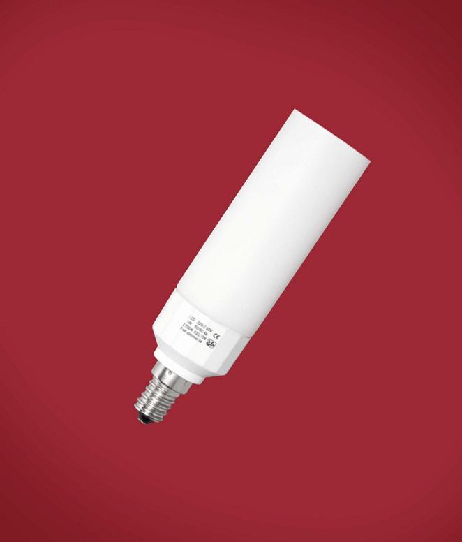 Paulmann Energiesparlampe E14 9W, Glas weiß, ni...