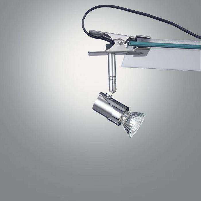 Flexible Klemmleuchte, Spot schwenkbar, Schnurschalter