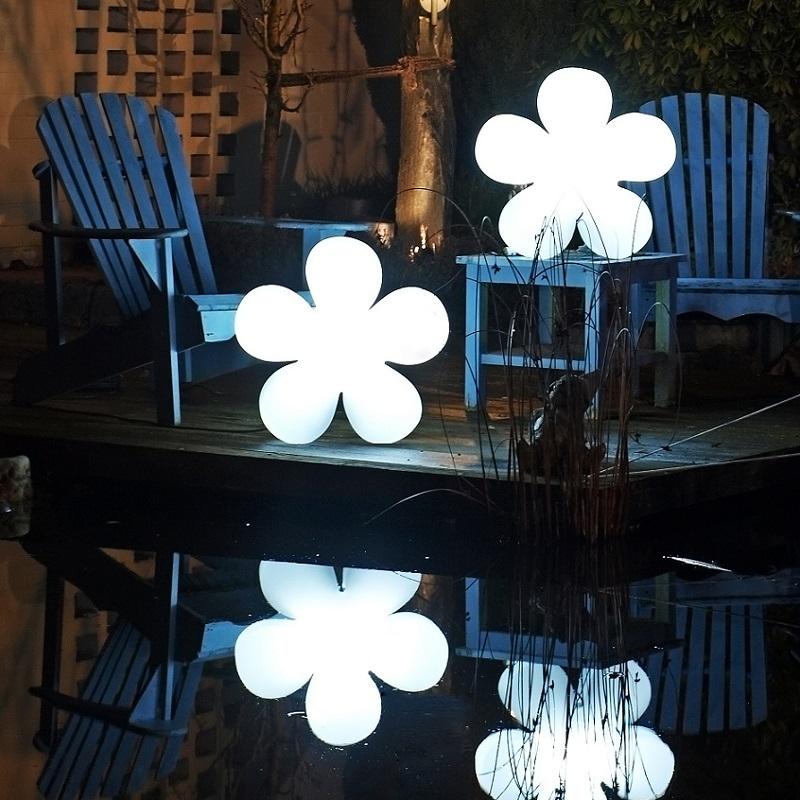 Flower-Dekoleuchte Ø60cm, Outdoor & Indoor, Weiß