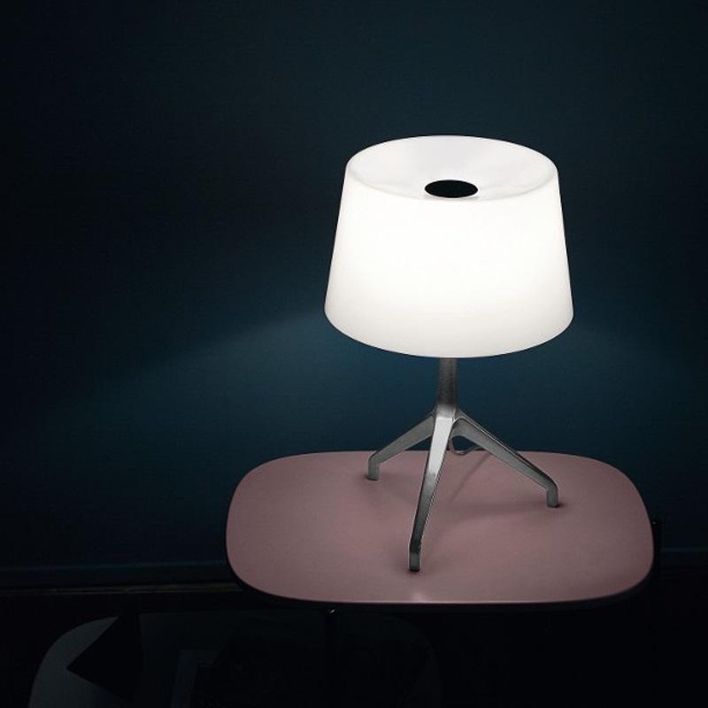 Foscarini Tischleuchte Lumiere XXL, Aluminium, Glas weiß
