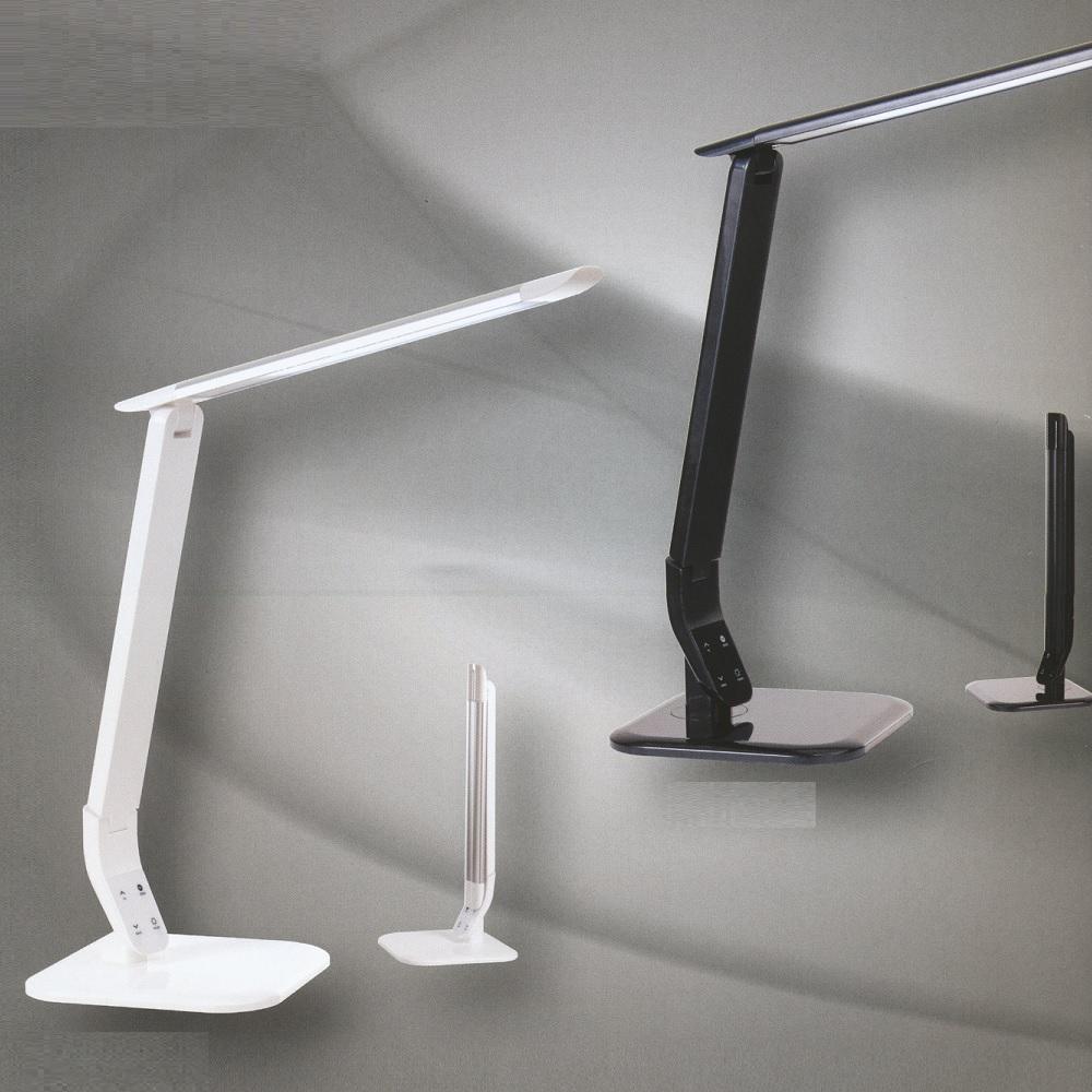 Funktionale LED-Tischleuchte - Zusammenklappbar - Weiß oder Schwarz - Mit Touchdimmer - Inklusive LED 6,3 Watt  400 Lumen