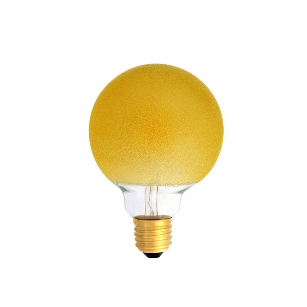 G80 LED Filament Globe Eiskristal bernstein
