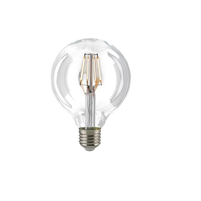 G95 LED Globelampe Filament  E27  2700K dimmbar - 4 oder 6,5 Watt