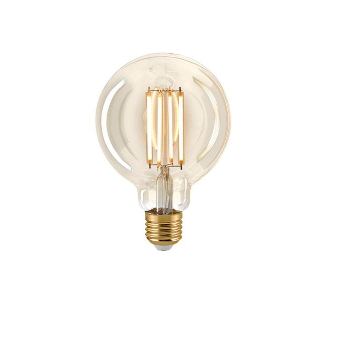 G95 LED Globelampe Gold Filament  E27  2400K dimmbar - 4,5 Watt