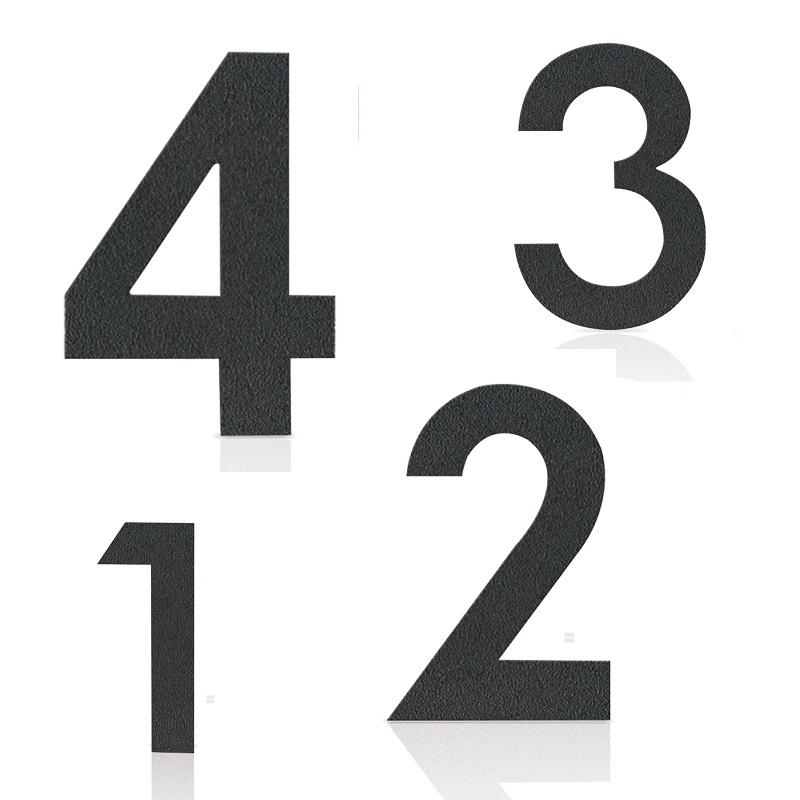 Heibi Hausnummer in Grafitgrau, pulverbeschichteter Edelstahl, Höhe 12cm, Nummer 7 Midi Hausnummer 7 64477-039 | Lampen > Aussenlampen > Hausnummern | Edelstahl | Heibi