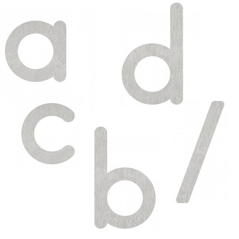 Hausnummer-Buchstaben von a-d und / - in Edelstahl - Höhe 10cm