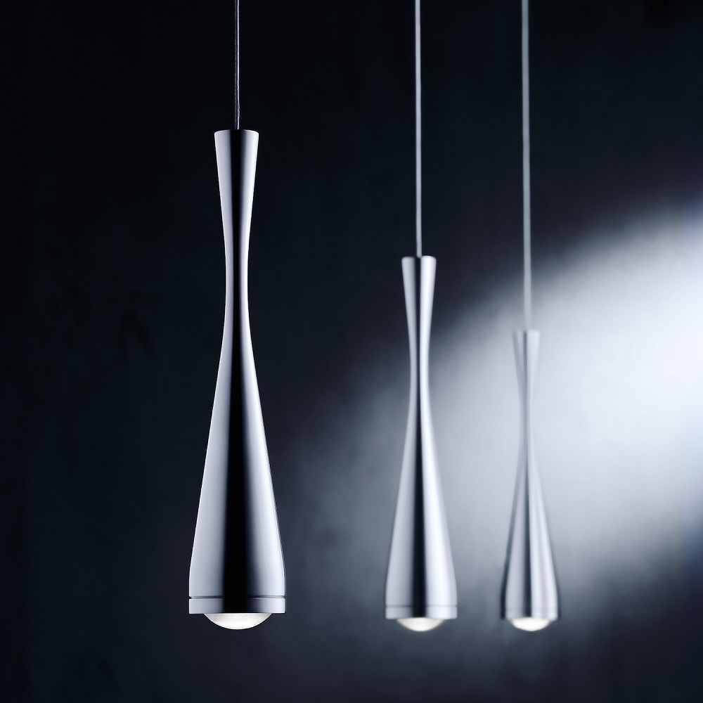 Holtkötter LED-Pendelleuchte 3-flammig, Aluminium-matt