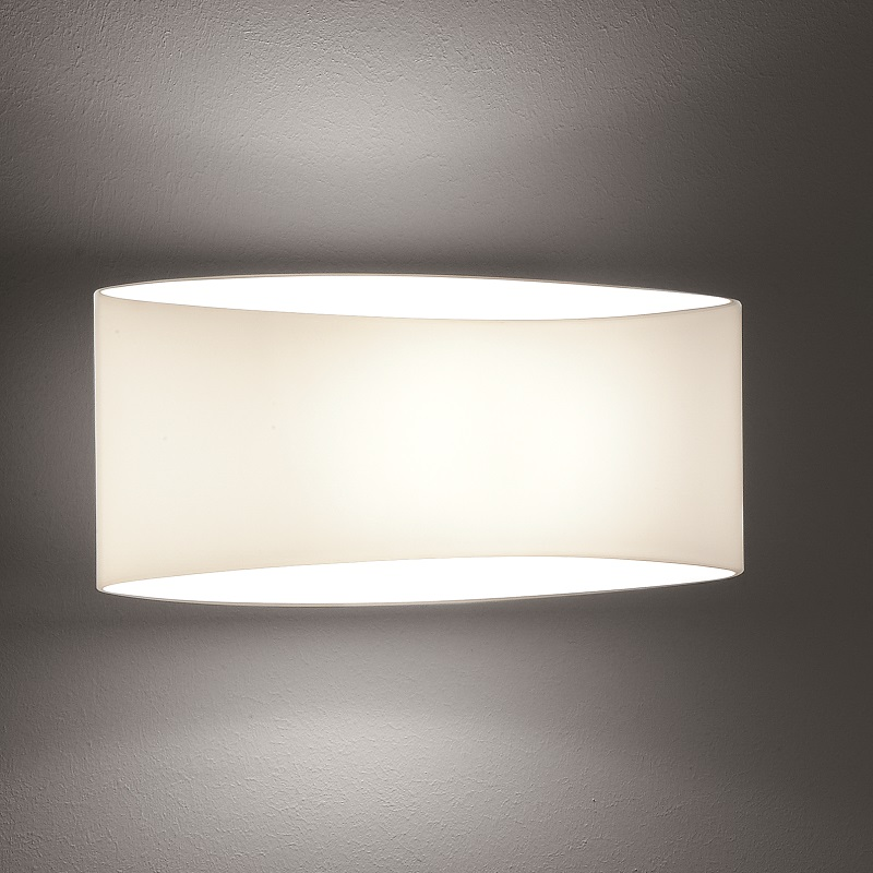 Holtkötter LED-Wandleuchte mit weißem Opalglas