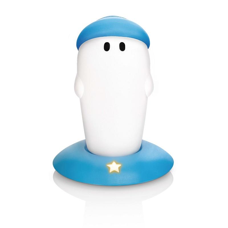 Philips Kinder Nacht- und Orientierungslicht - LED 1 Watt - Einfach aufladbar - Littlebro blau/weiß, 15,40 cm, 9,40 cm, 8,80 cm 44510/35/16 | Lampen > Kinderzimmerlampen | Philips