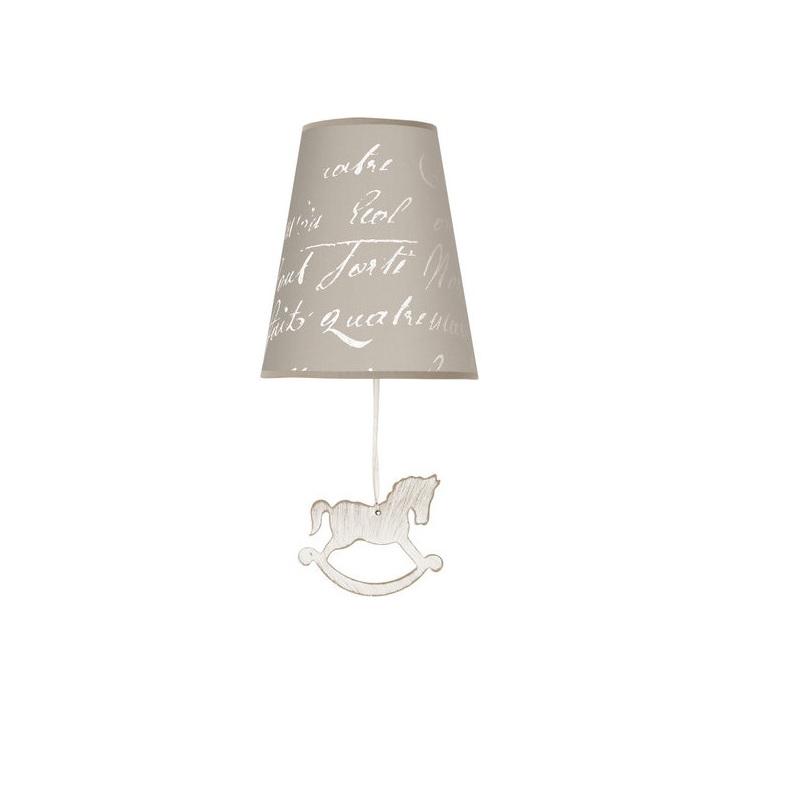 Nowodvorski Kinderzimmer Wandleuchte Pony N 6376 | Lampen > Kinderzimmerlampen | Grau - Weiß | Stoff | Nowodvorski