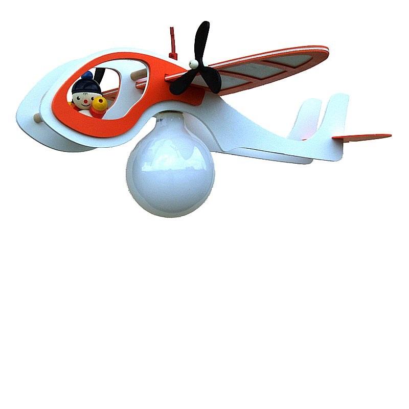 Elobra Kinderzimmerlampe Flugzeug in weiß-orange Technikwelt orange/weiß 125557 | Lampen > Kinderzimmerlampen | Elobra