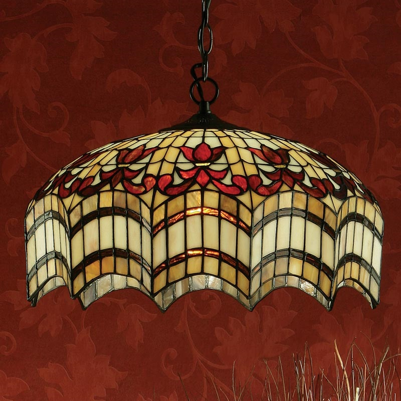 Klassische Pendelleuchte Vesta im Tiffany Stil