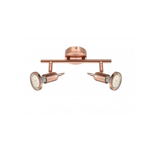 Klassischer LED Deckenstrahler in mattem Kupfer - inklusive LED-Leuchtmittel und LED-Taschenlampe