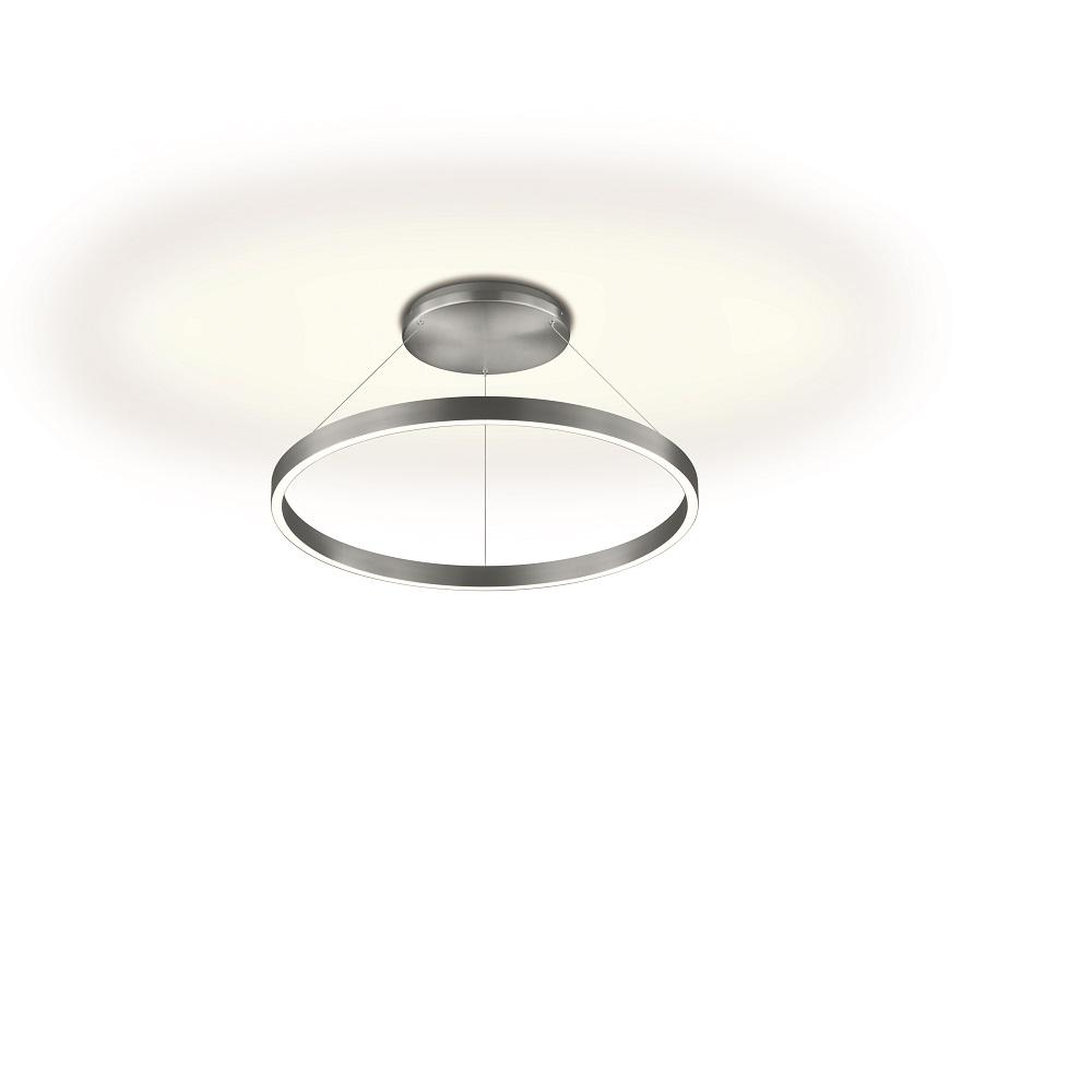 Knapstein LED Deckenleuchte Ring, Up & Down Pendelleuchte, 60 cm - 2 Farben